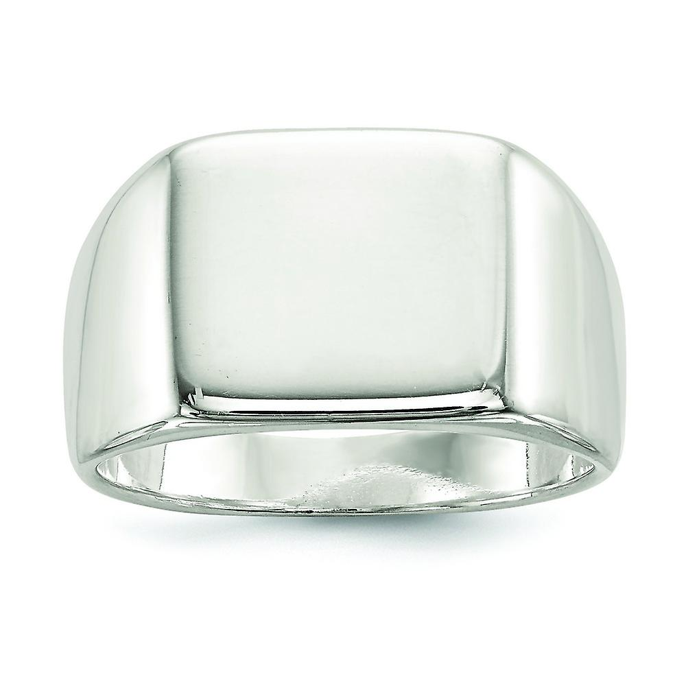 Solid 925 Sterling Silver 14x15mm Closed Back Engravable Signet Ring