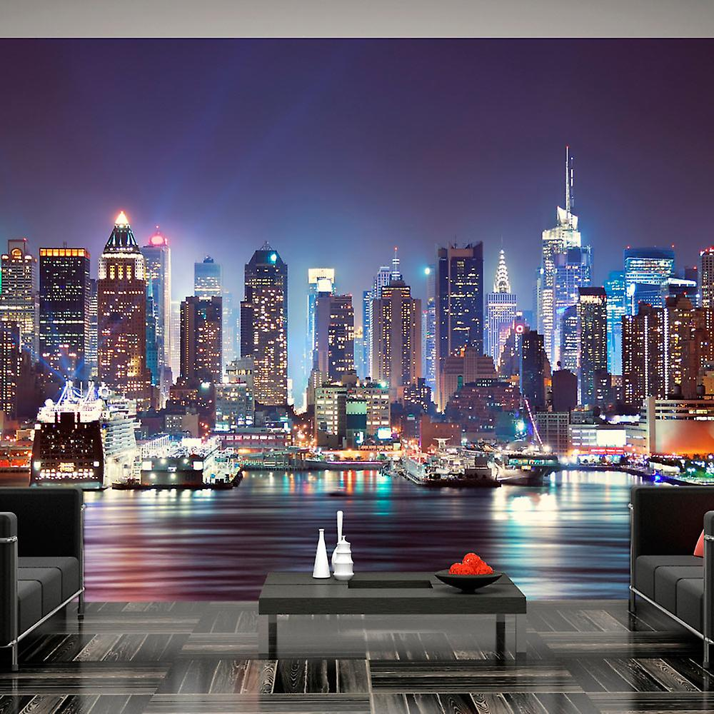 Foto Behang New York.Behang Nacht In New York City Fruugo