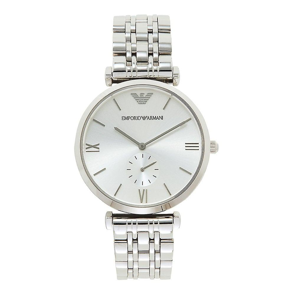06dd66aa8 Armani Watches Ar1819 Silver Stainless Steel Mens Watch | Fruugo