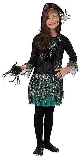 Spider girl grön klänning kostym för barn  29c624040205e