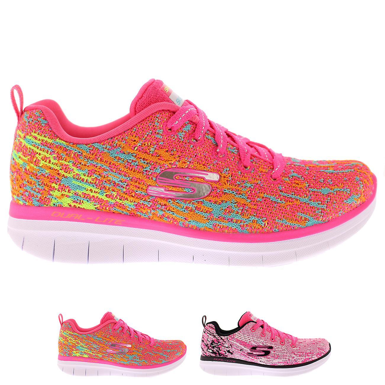 Kids Girls Skechers Synergy 2.0 High Spirits Sport Memory Foam Sneaker
