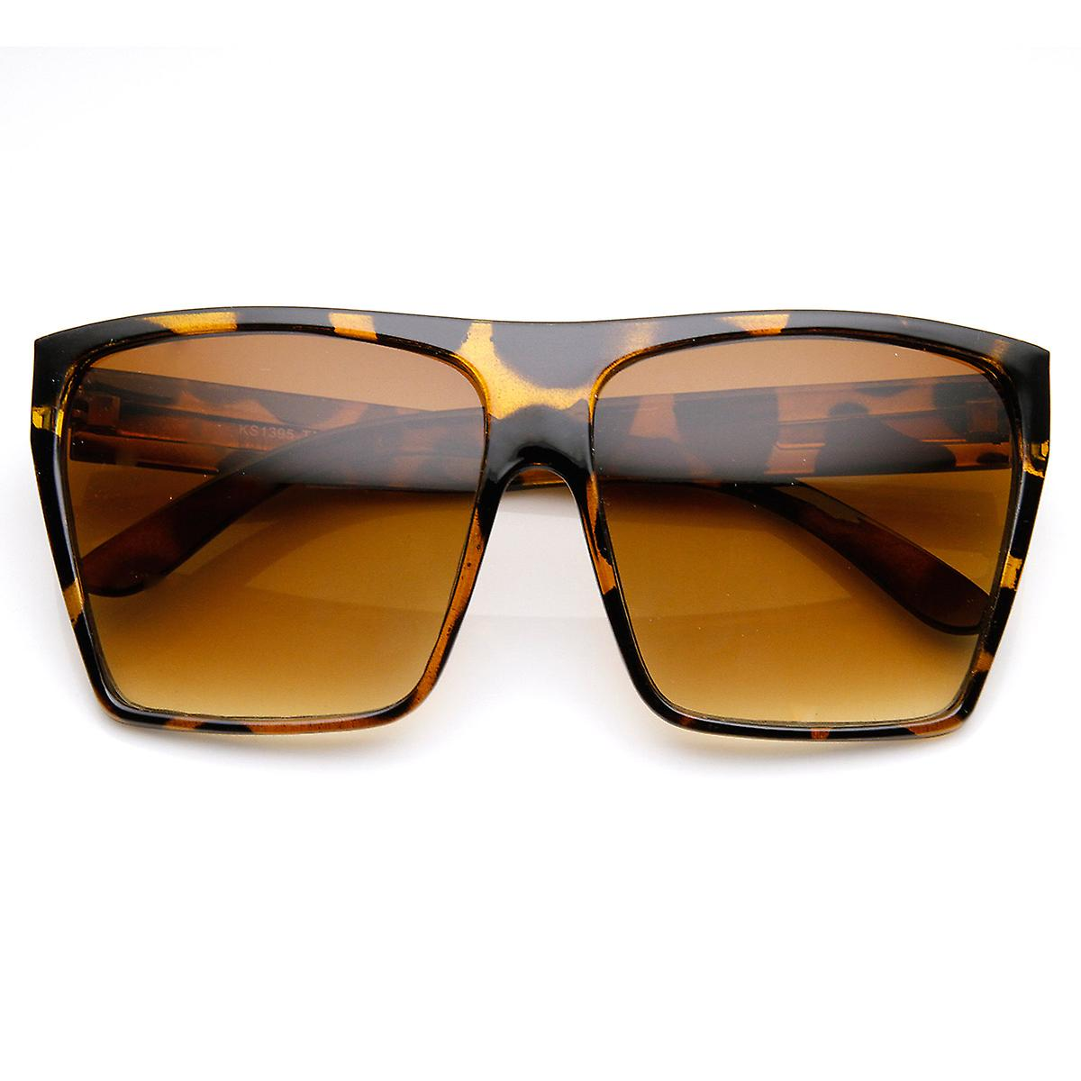 56acc4a3df Large Oversized Retro Fashion Square Flat Top Sunglasses