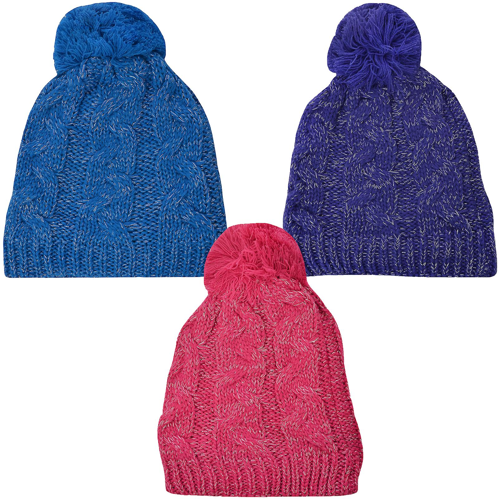 ProClimate Thinsulate Waterproof Winter Cable Knit Pom Pom Bobble Beanie Hat 7b923cb1cc1