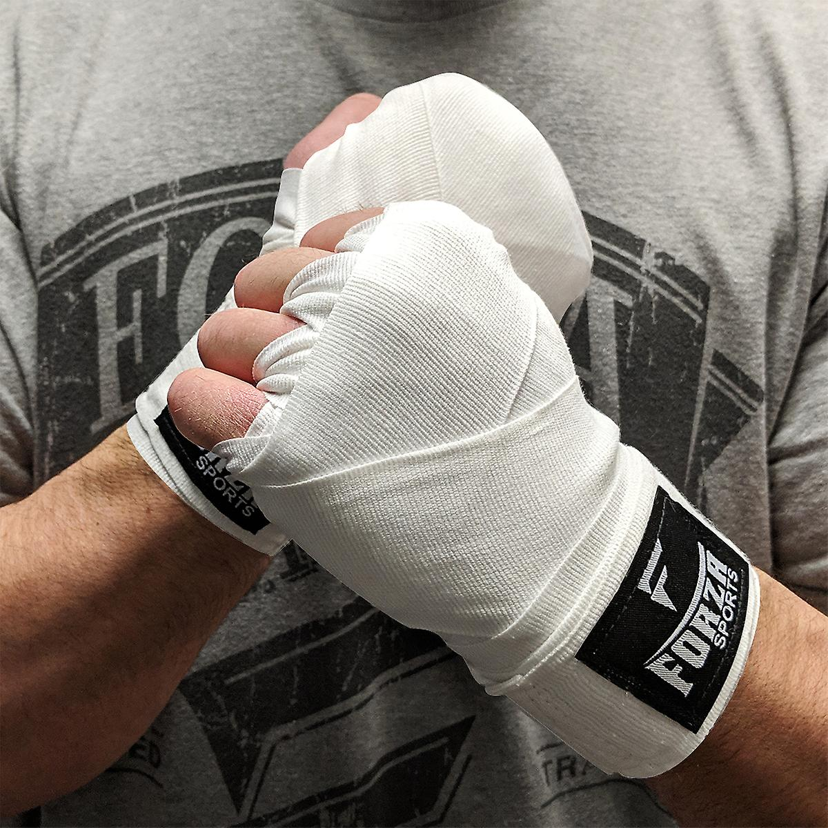 "Forza Sports 120/"" Mexican Style Boxing and MMA Handwraps White"