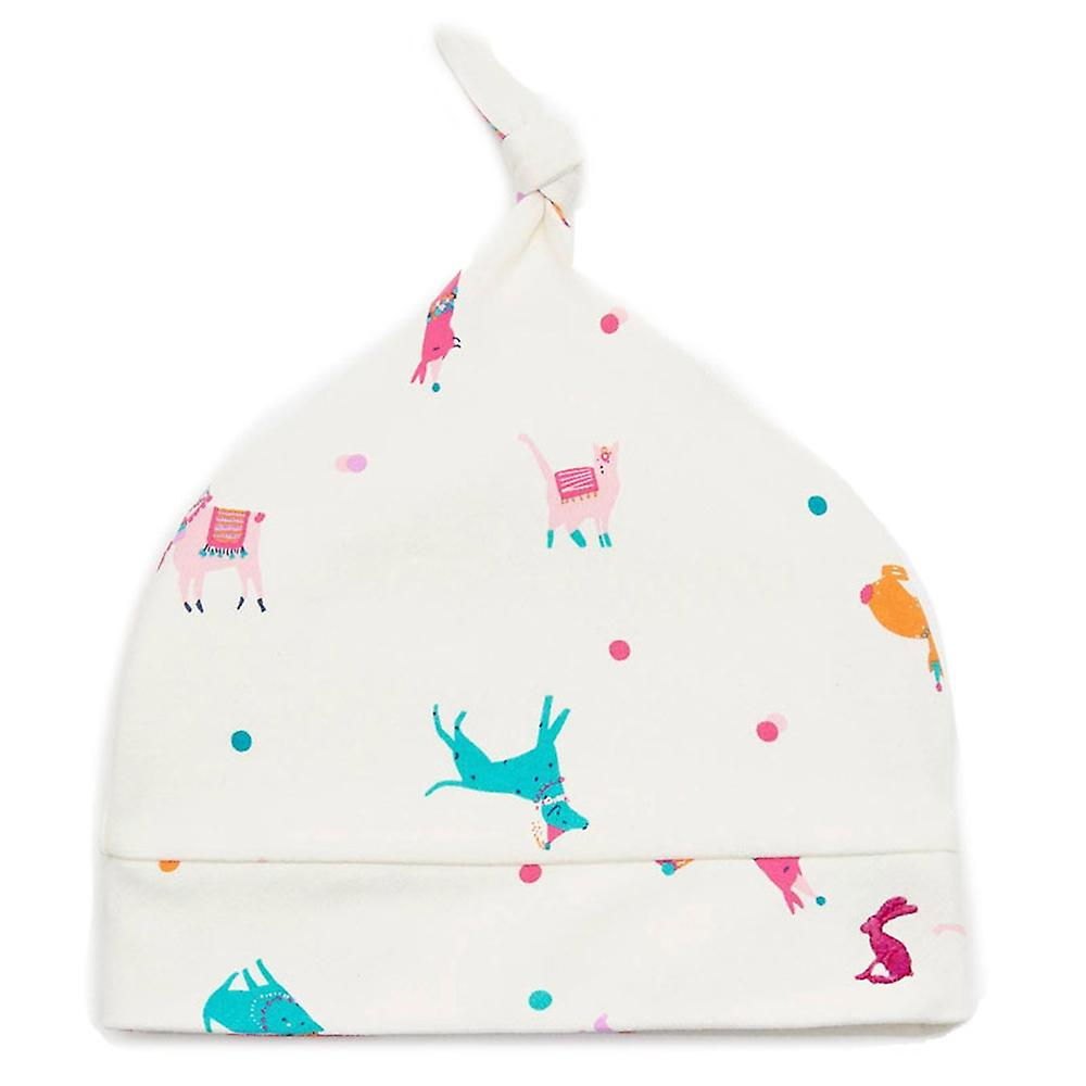 Joules Baby Koo Knotted Hat in Cream Festival Friends