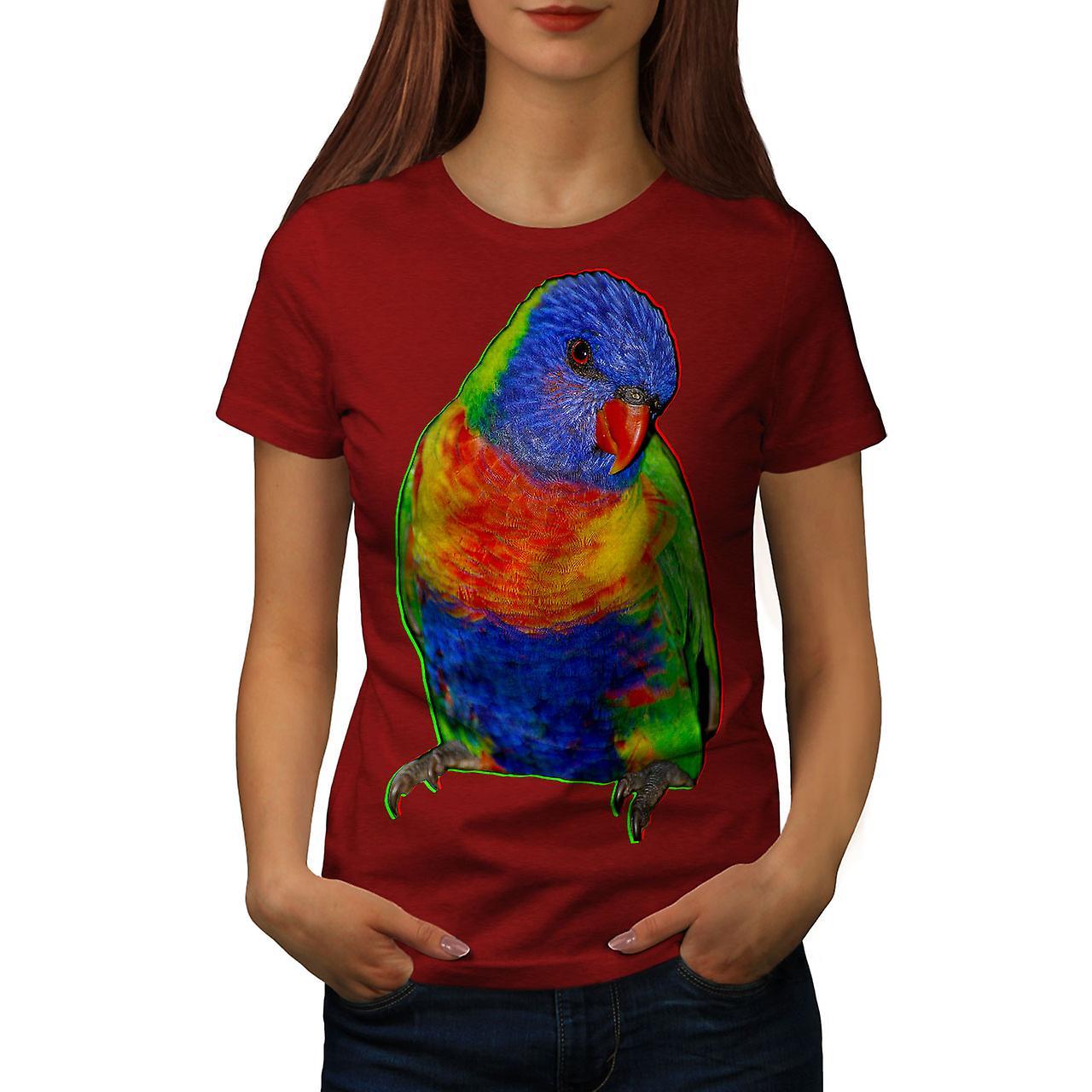 609b9bfc Parrot Cheeky Look Women RedT-shirt | Wellcoda | Fruugo