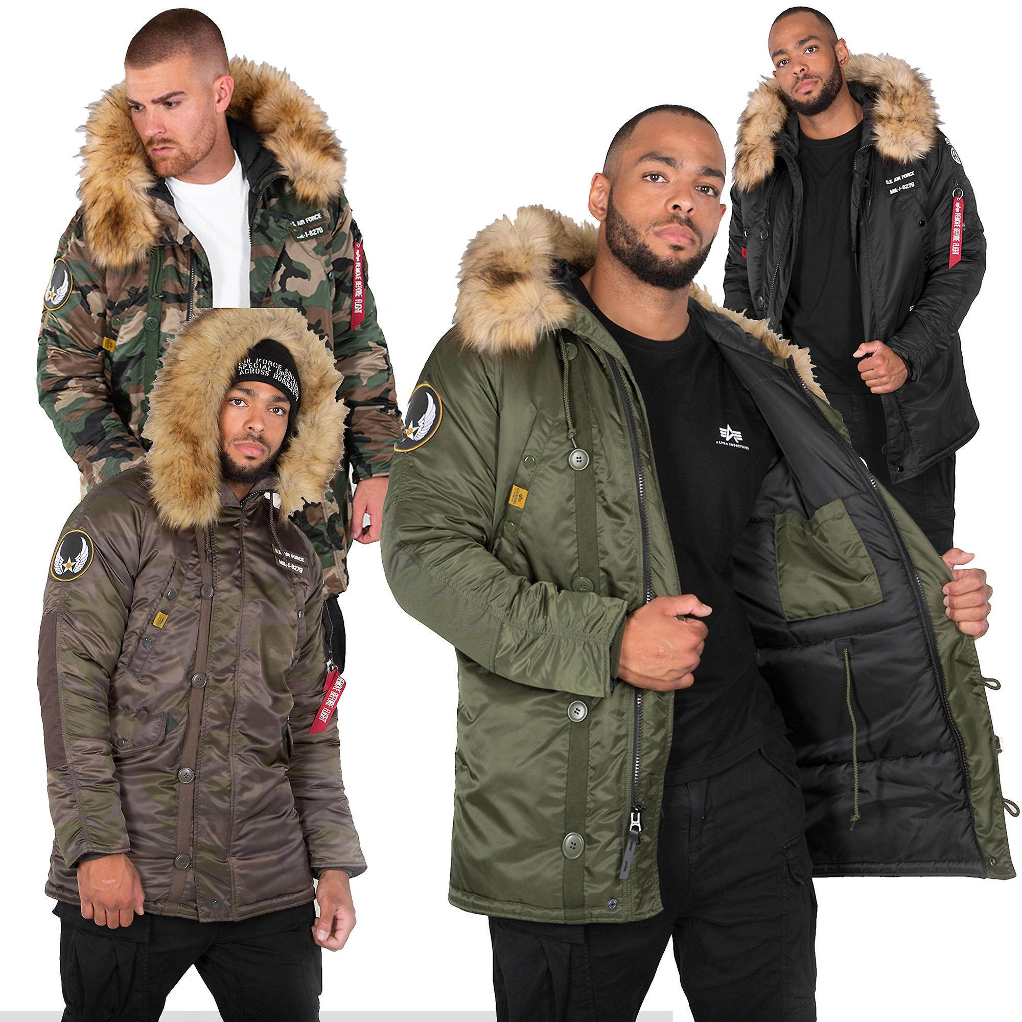 newest collection 5b6e7 e790e Alpha industries men's winter jacket N3B airborne