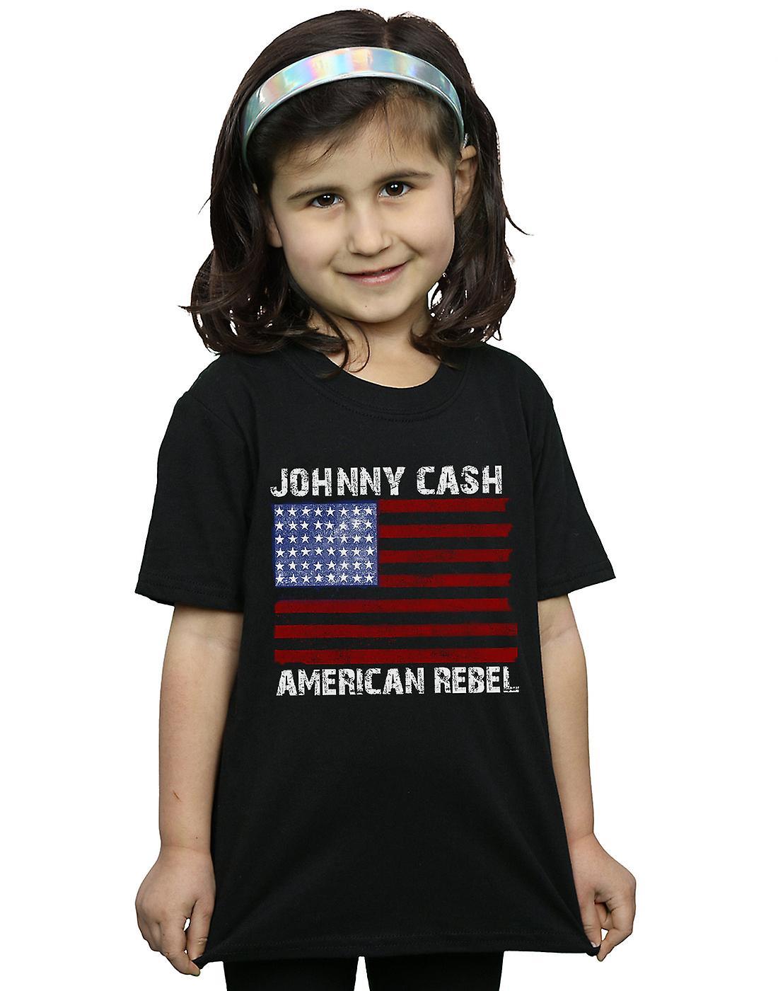 Johnny Cash Girls American Rebel Flag T-Shirt