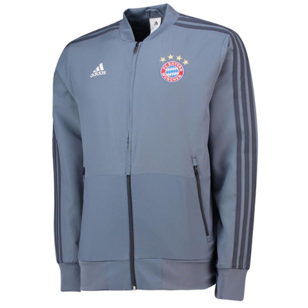 2018 2019 Bayern Munich Adidas UCL Presentation Jacket (Grey)