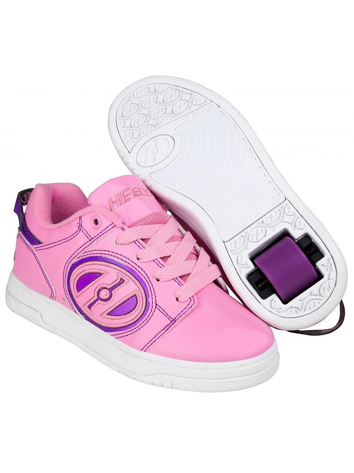 low priced 36874 00fcb Heelys Light Pink-Purple Voyager Girls One Wheel Shoe