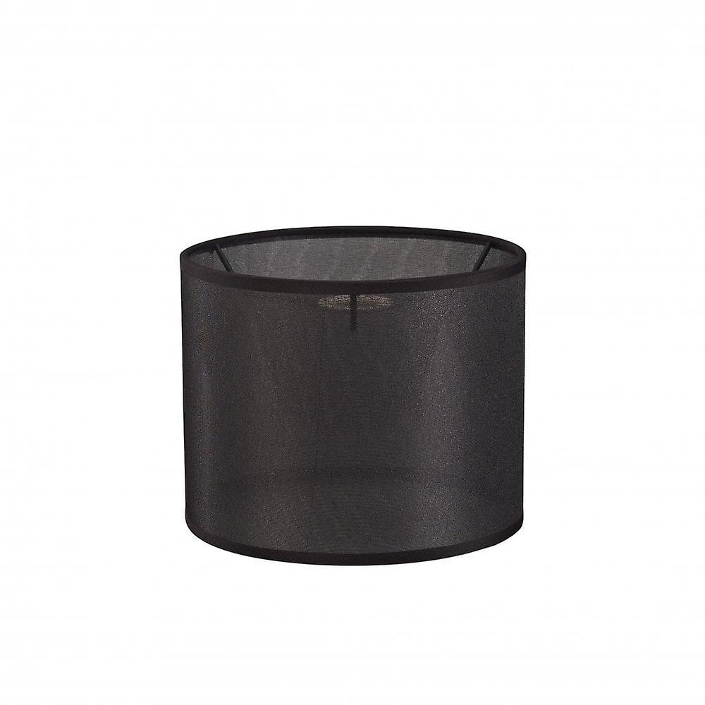 Diyas Curino rund skygge liten ren veve stoff svart 200 X 160mm