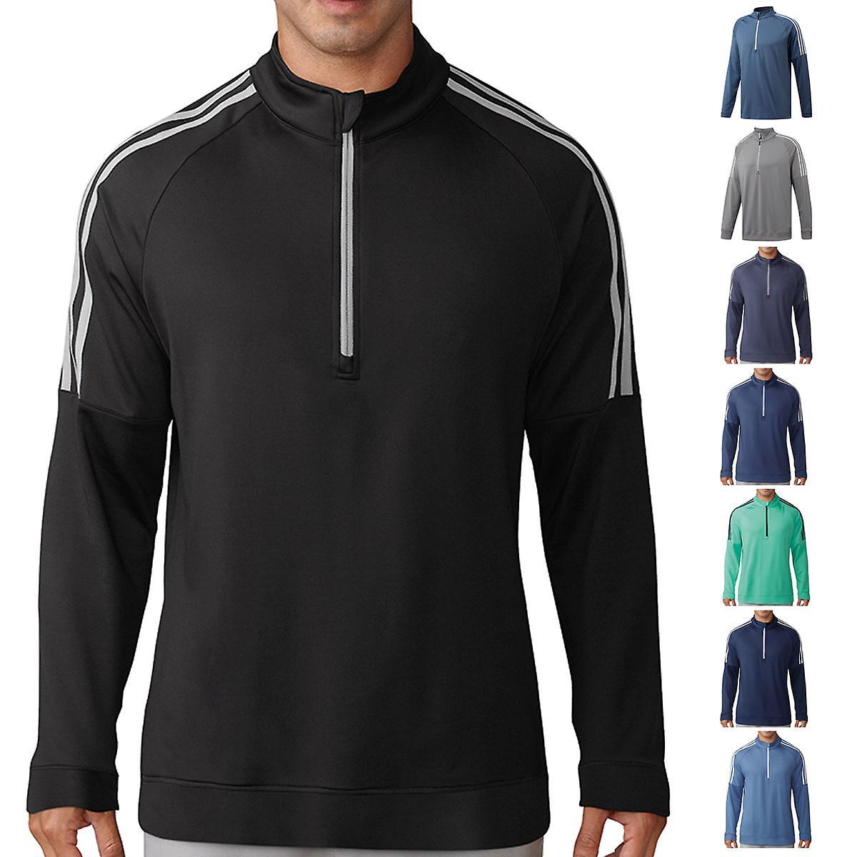Golf 14 Stripes adidas Pullover Mens 3 Zip hrdstQC