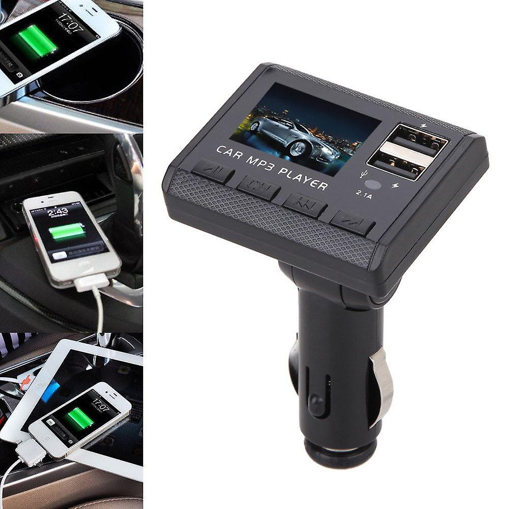 Car Music Mp3 player Fm transmitter Modulator Dual USB charging Remote SD MMC USB LCD car