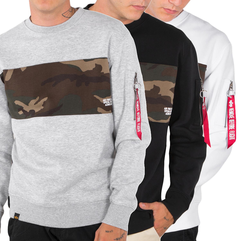 the latest d6dd8 69066 Alpha industries men's sweatshirt Camo bar