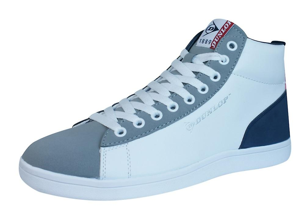 info for 55841 f0ad6 Dunlop Trainer Jerez Mens Top Hi Lace Up Schuhe - weiss