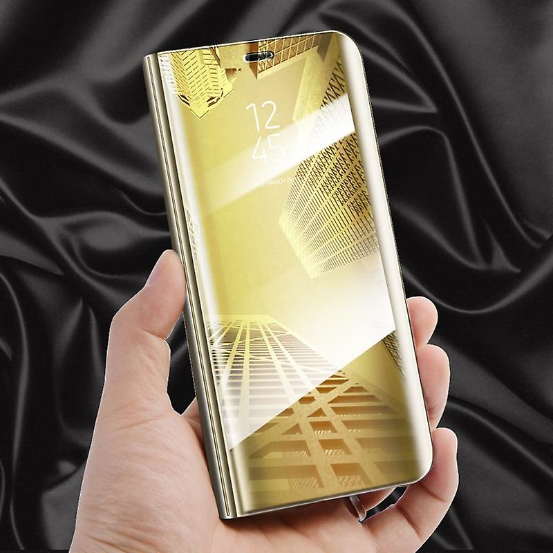 quality design 3c537 8f639 For Samsung Galaxy J5 J530F 2017 clear view mirror mirror smart cover gold  protective case cover pouch bag case new case wake UP function