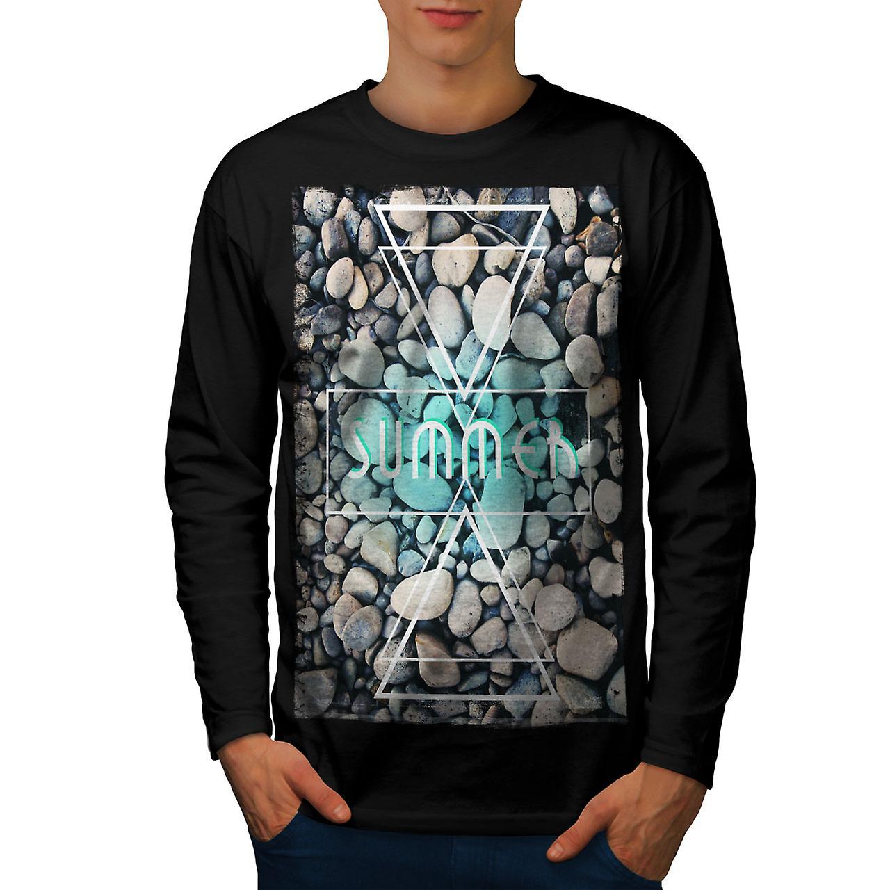 92ca8769d8c5 Summer Ocean Rock Men BlackLong Sleeve T-shirt