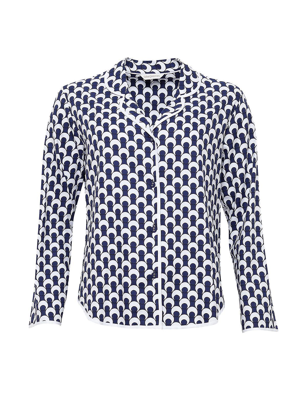 Cyberjammies 4062 Women/'s Rosie Navy Blue Pyjama Top