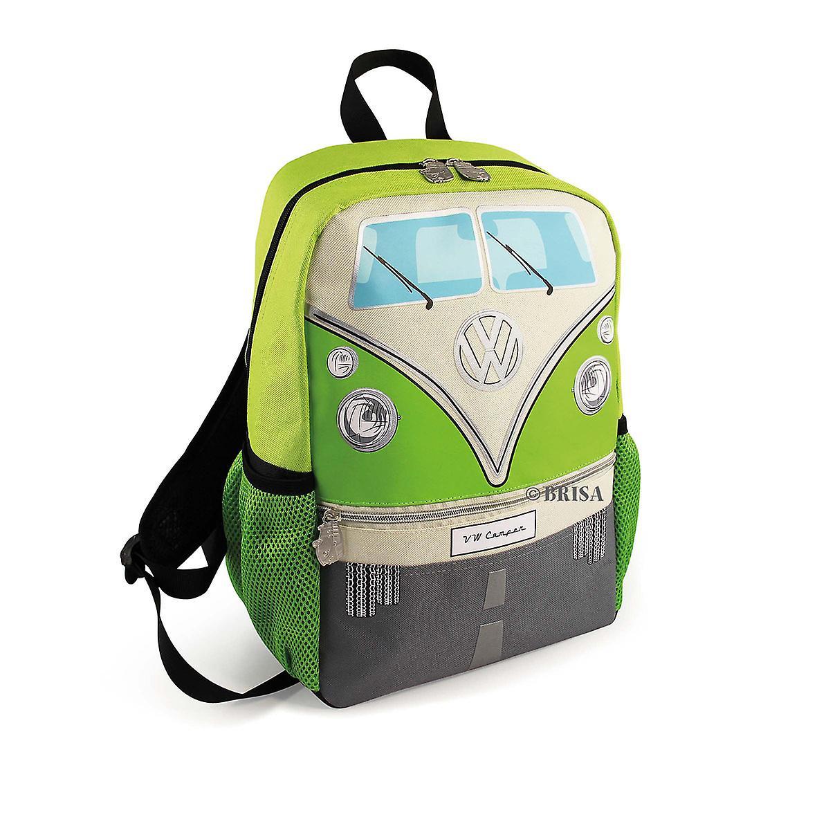 Officiella VW Camper Van barn skola ryggsäck väska - grön  f8bc6bf1e6512
