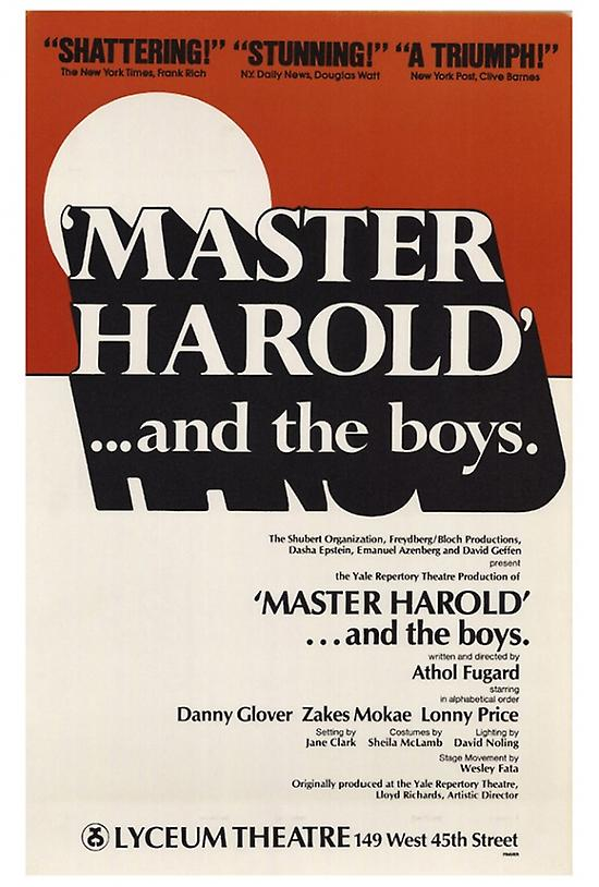 an analysis of the different influences in master harold and the boys a play by athol fugard