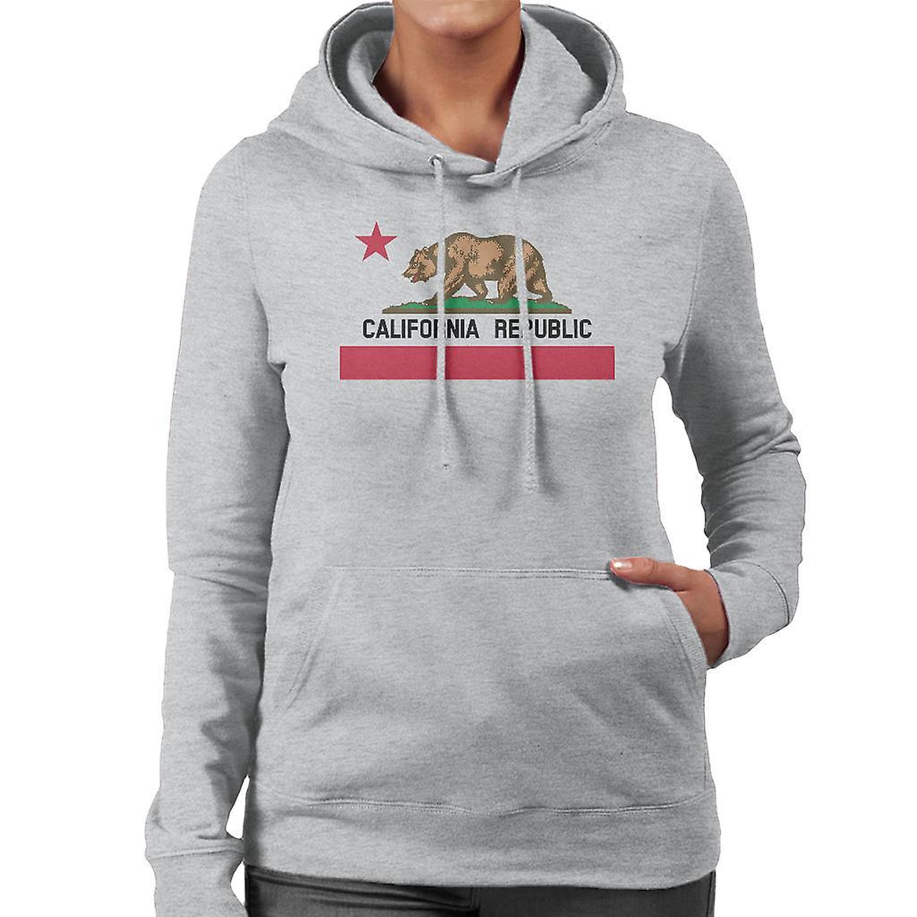 e9e7762c California Republic State Bear Flag Women's Hooded Sweatshirt | Fruugo