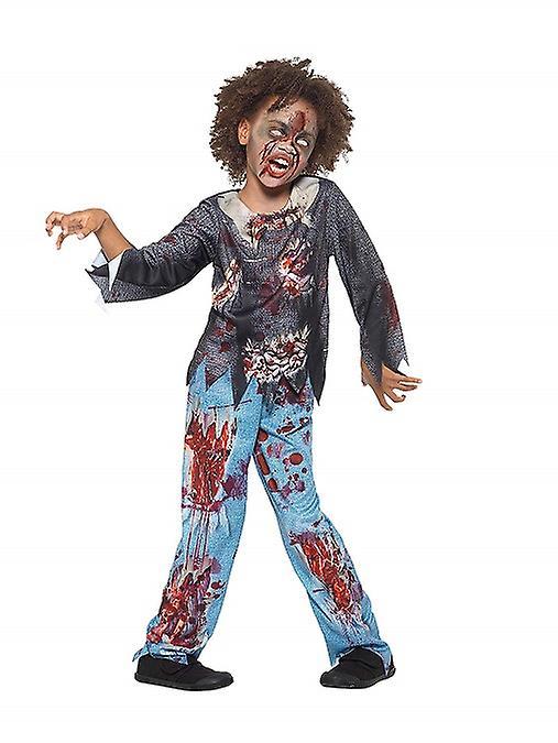 Zombie Kostum Kinder Mehrfarbig Mit T Shirt Und Hose Kinderkostum