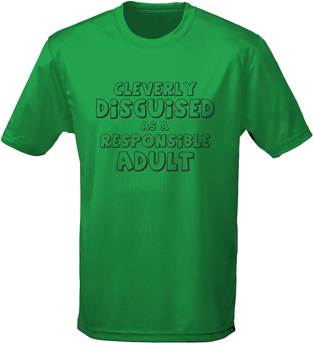 d73b9a3bf94a Cleverly Disguised As A Responsible Adult Mens T-Shirt 10 Colours (S-3XL