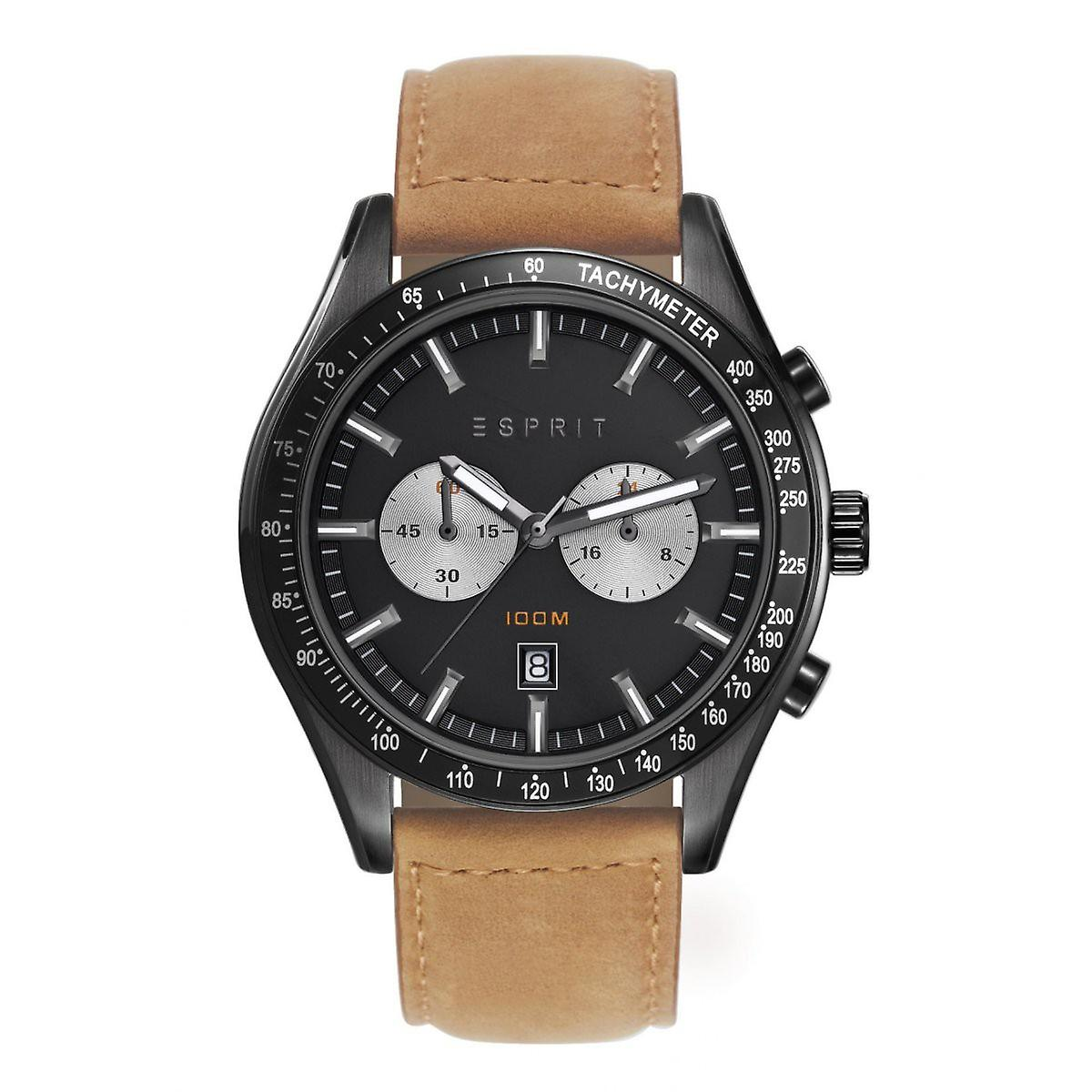 0d183e33f6a ESPRIT heren horloge horloge, Ryan lederen Chrono ES108241004   Fruugo