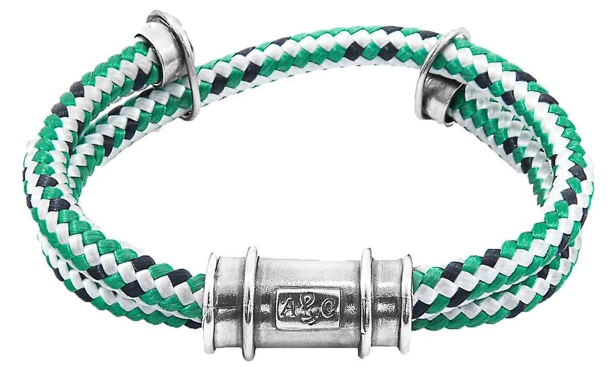 Anchor and Crew Larne Rope Bracelet - Green/Silver
