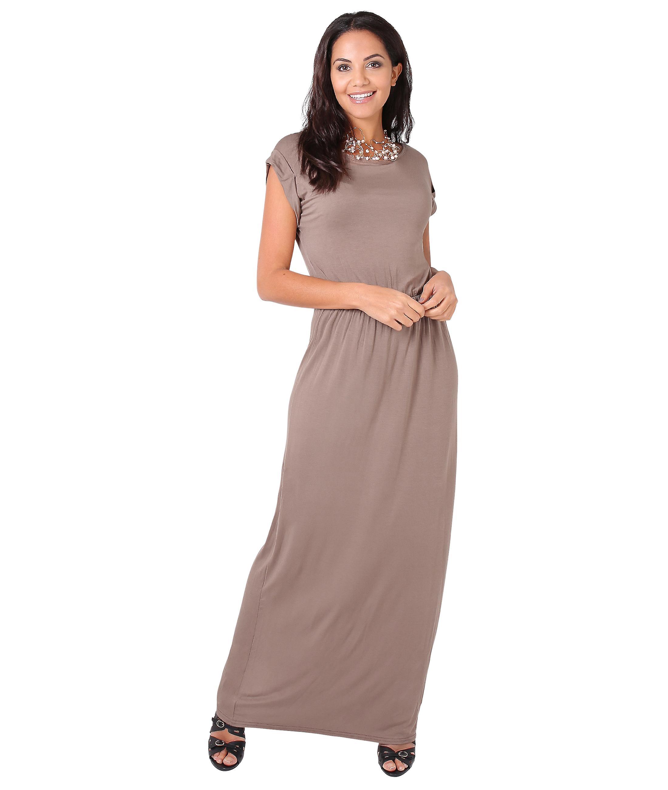 52c7950235e KRISP KRISP skru opp Batwing ermet høy midje lang Jersey Maxi kjole fest  sommer 3269