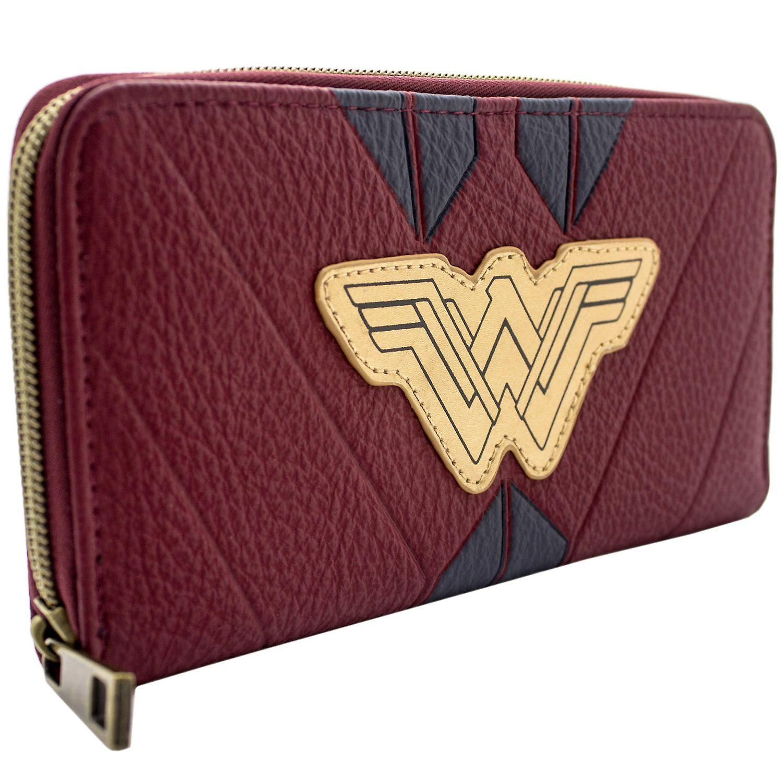 offizieller Preis hohe Qualität gemütlich frisch DC Wonder Woman rote Krieger Anzug Münze & Karte Kupplung Geldbeutel