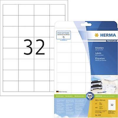 6f98adf3 Herma 4200 etiketter andel på 48,3 x 33,8 mm papir hvit 800 eller ...
