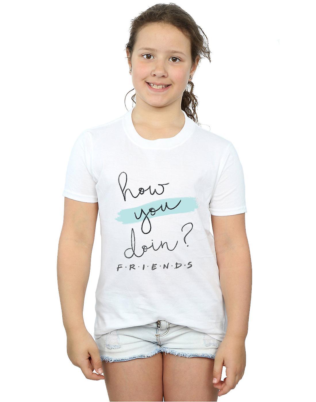 7ead2c6a Venner jenter hvordan du gjør? Håndskrift t-skjorte | Fruugo