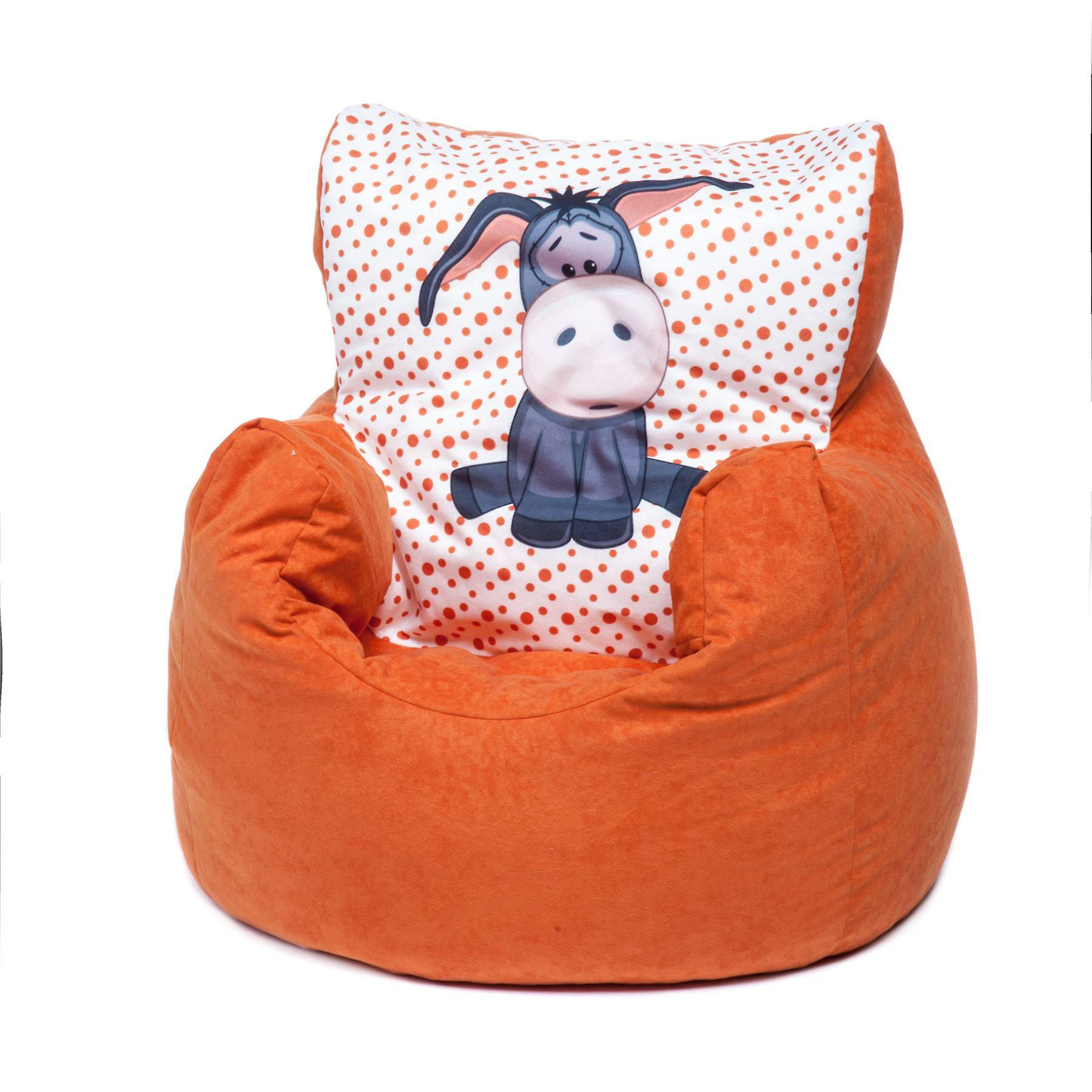 Groovy Loft 25 Toddler Animal Print Soft Plush Bean Bag Chair Donkey Orange Ocoug Best Dining Table And Chair Ideas Images Ocougorg
