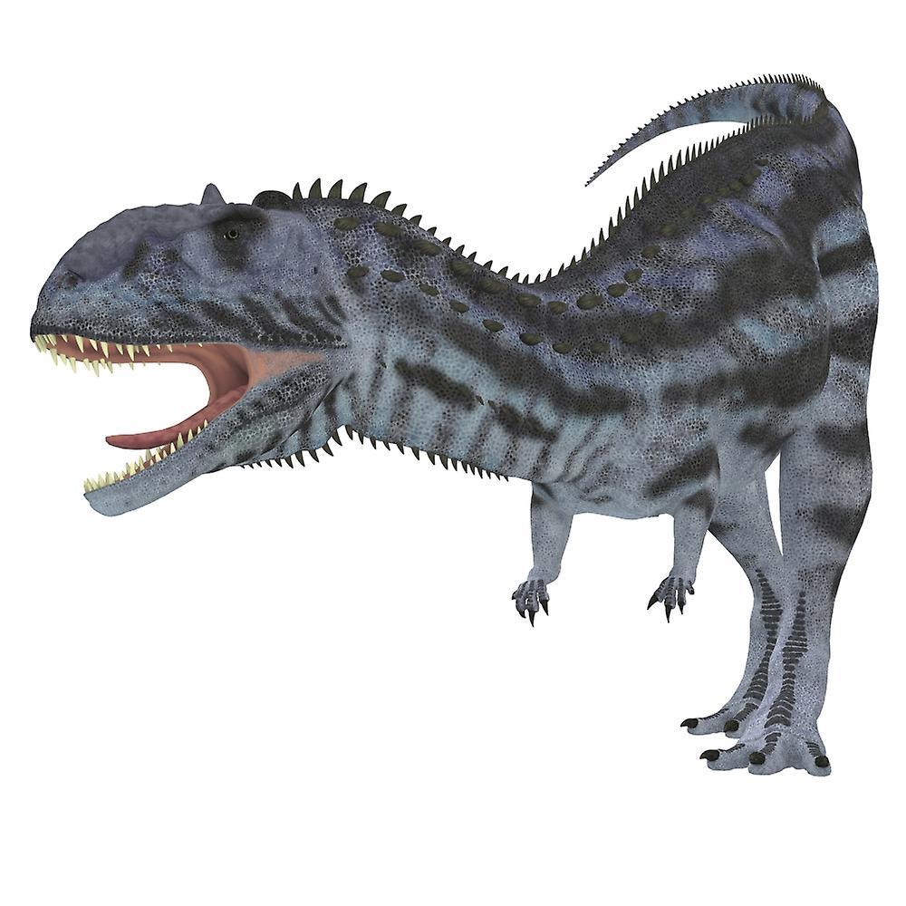 Majungasaurus Dinosaurie Majungasaurus Var En Köttätande Dinosaurier Som Levde I Madagaskar I Krita Perioden Affisch Skriv Ut