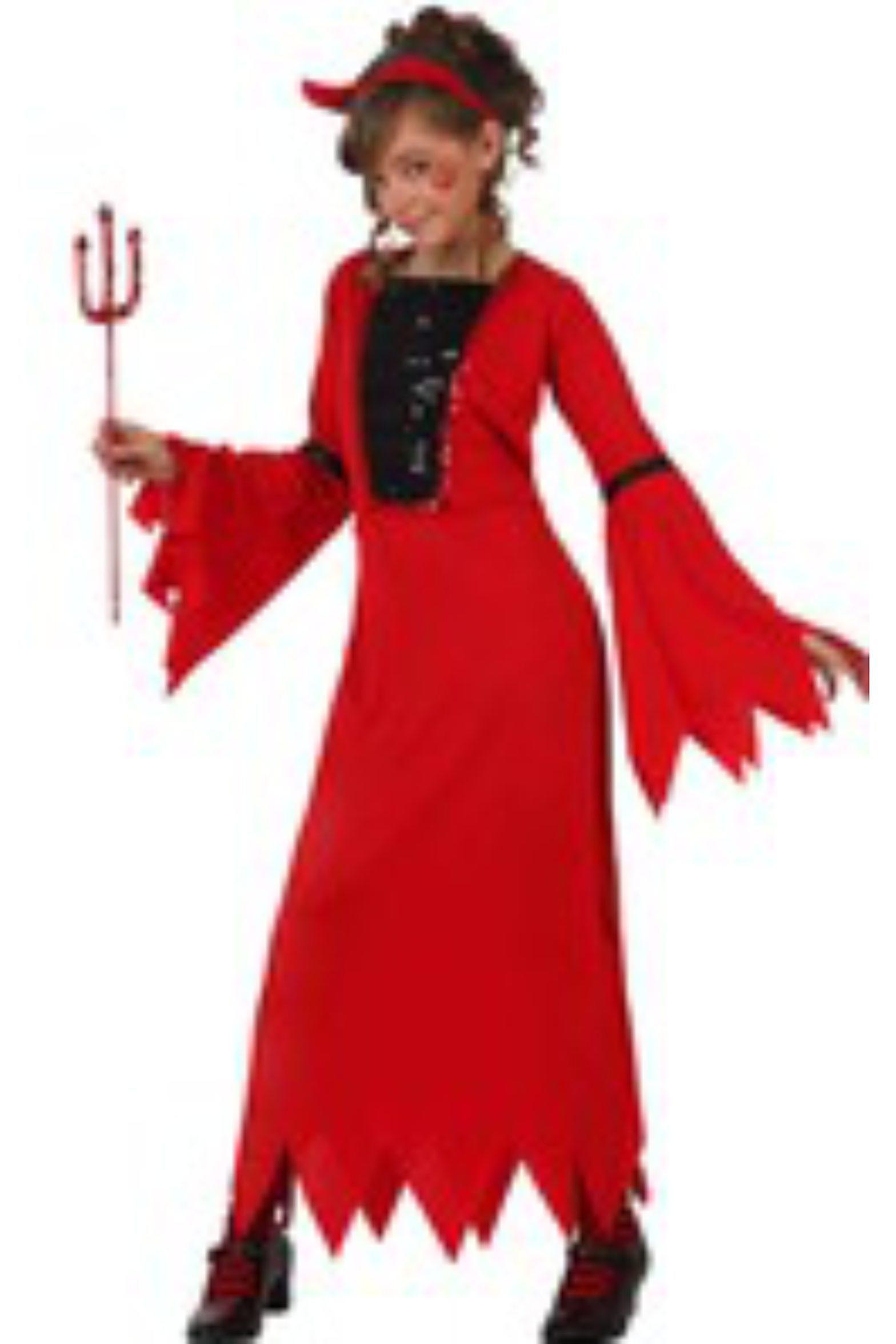 Kostymer för barn Demonia djävulen dress kostym för flickor  156f2d4e04320