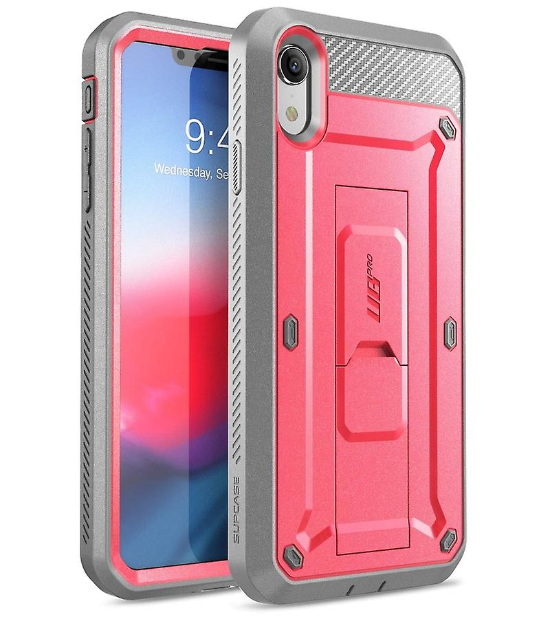 premium selection 1d9f6 f1d3e iPhone XR Case, Full-Body Rugged Holster Case with Built-in Screen  Protector, Unicorn Beetle Pro Series - (Pink)