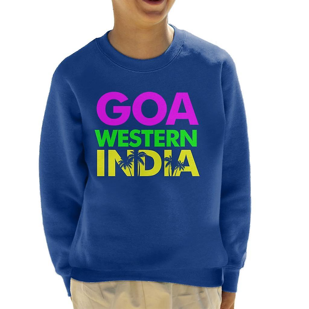 Goa Western India Neon Text Kid S Sweatshirt Fruugo
