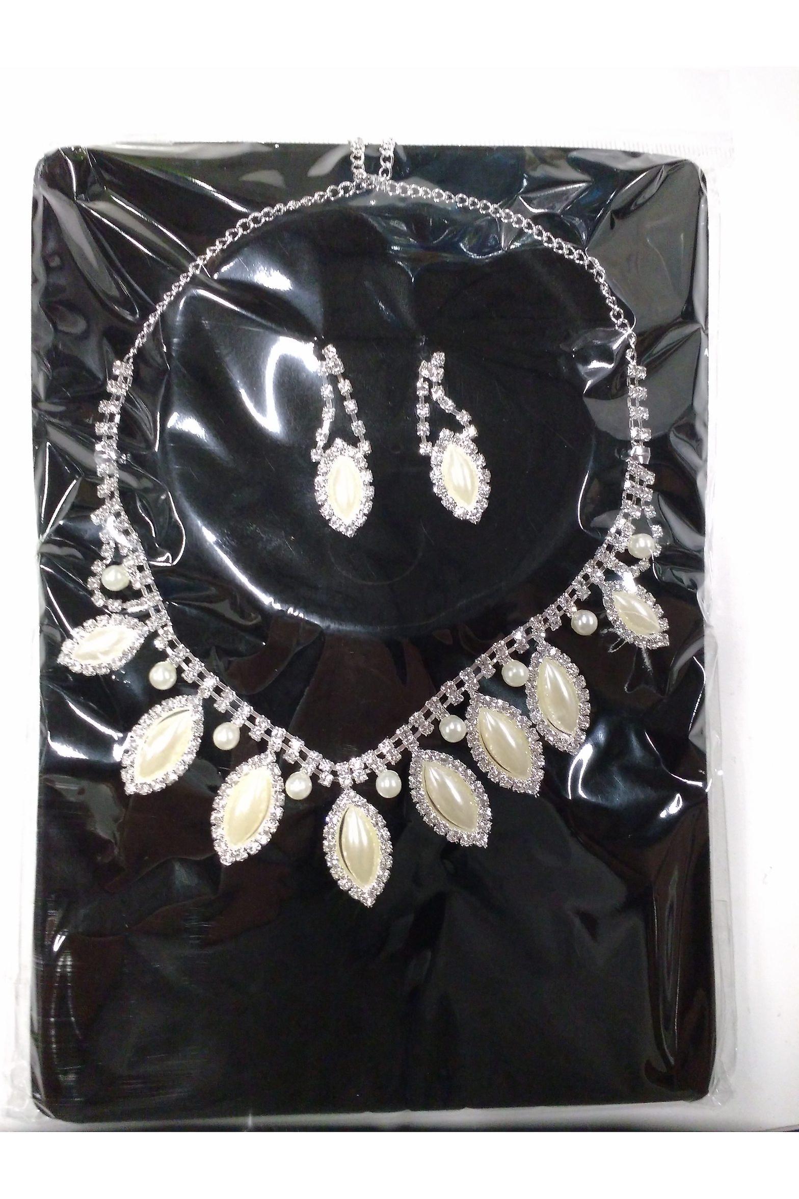data di rilascio: 008a9 59b3c Gioielli e corone Glamour party set di perle (orecchini e collana strass)
