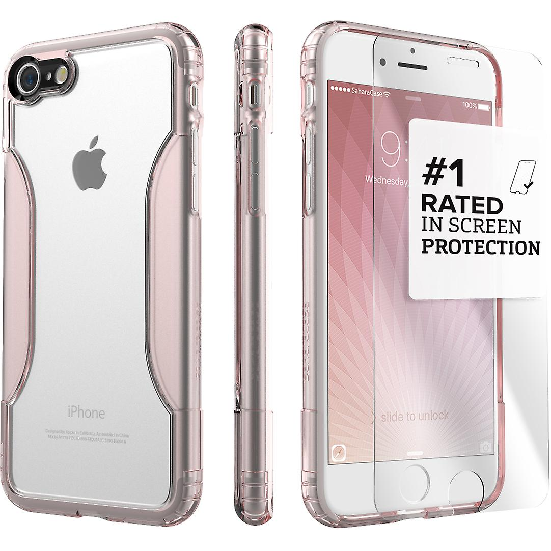 separation shoes 09117 bc32f SaharaCase iPhone 8 & 7 Rose Gold Clear Case, Classic Protective Kit Bundle  with ZeroDamage® Tempered Glass