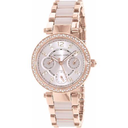 Michael Kors Mk6110 kvinners rose gull med metall stropp watch