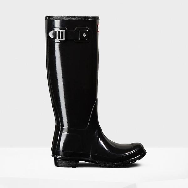 Hunter Original Tall Gloss Ladies Rubber Wellington Boots Black