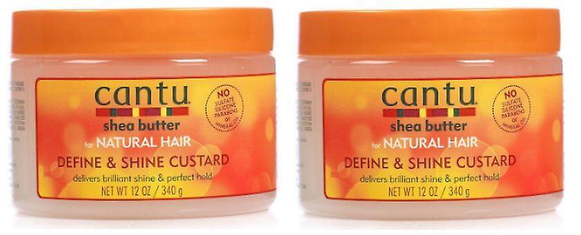 dd84536fecc9 Cantu Natural Hair Define And Shine Custard 12oz Jar (2 Pack)