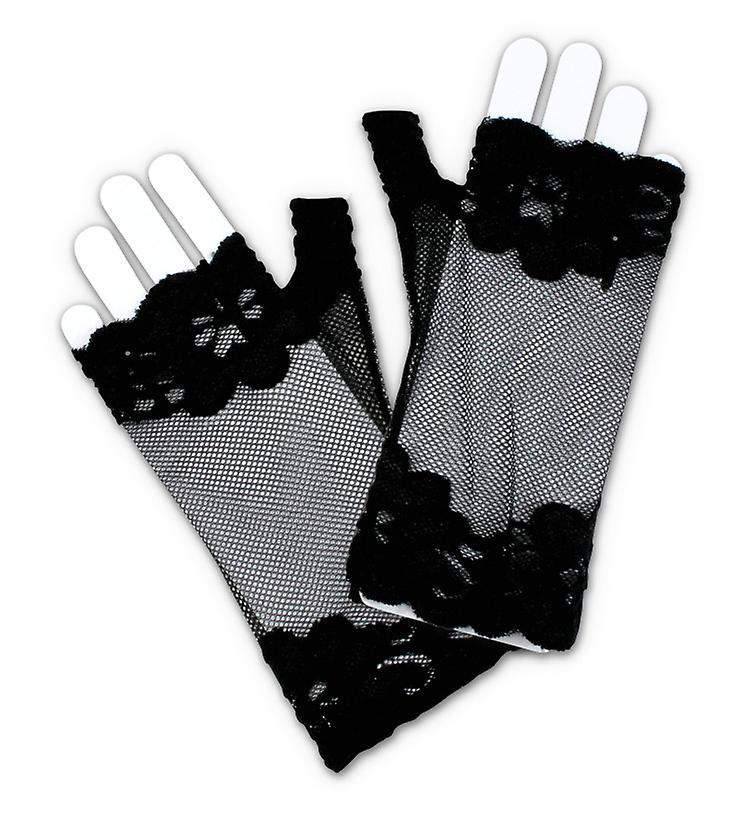 top handschoen zonder vingers zwart 20 's accessoire | fruugo