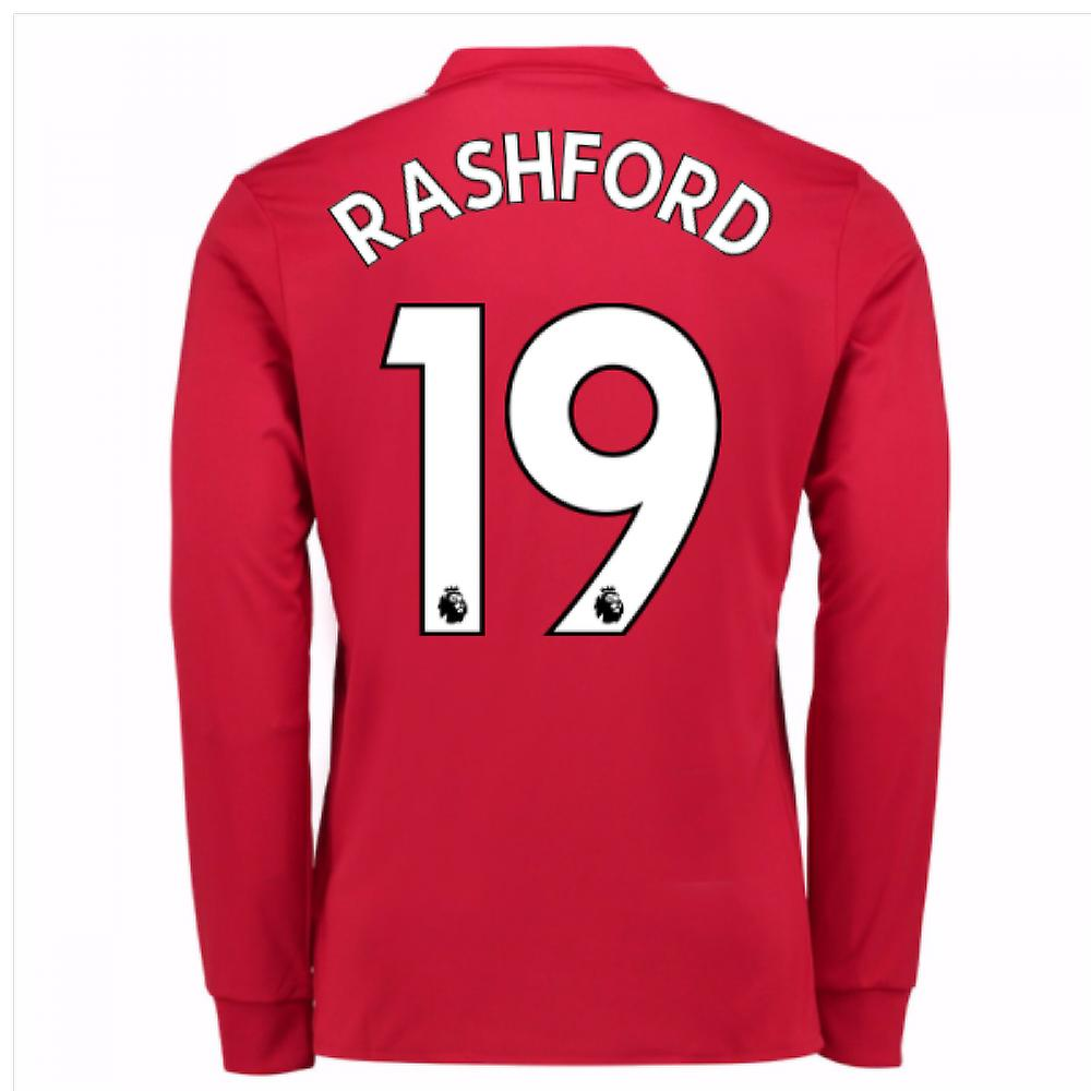 e0d7a3fee0d 2017-2018 Man United Long Sleeve Home Shirt (Rashford 19)