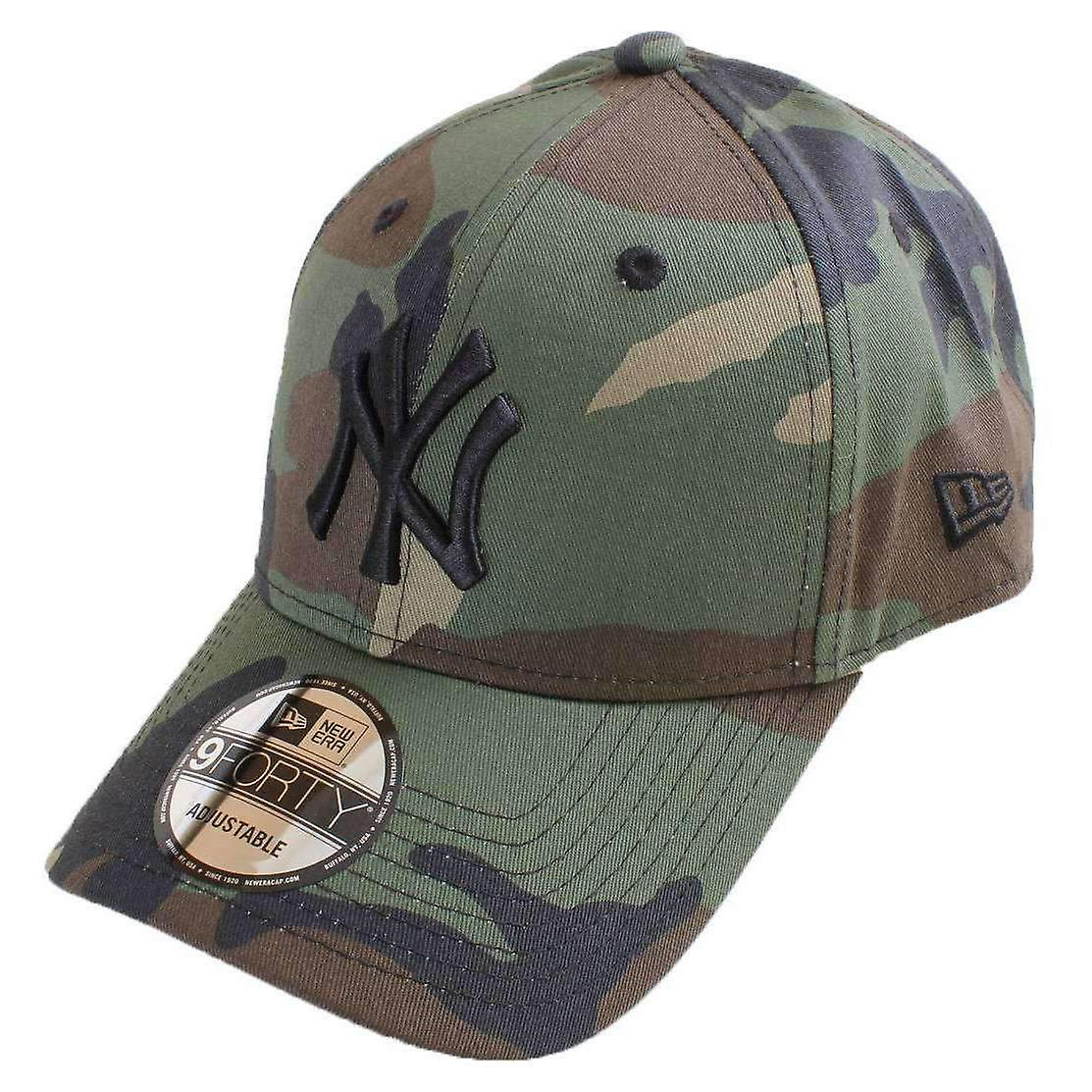New Era 9FORTY League Essential New York Yankees Cap - Woodland Camo ... 56c435b79