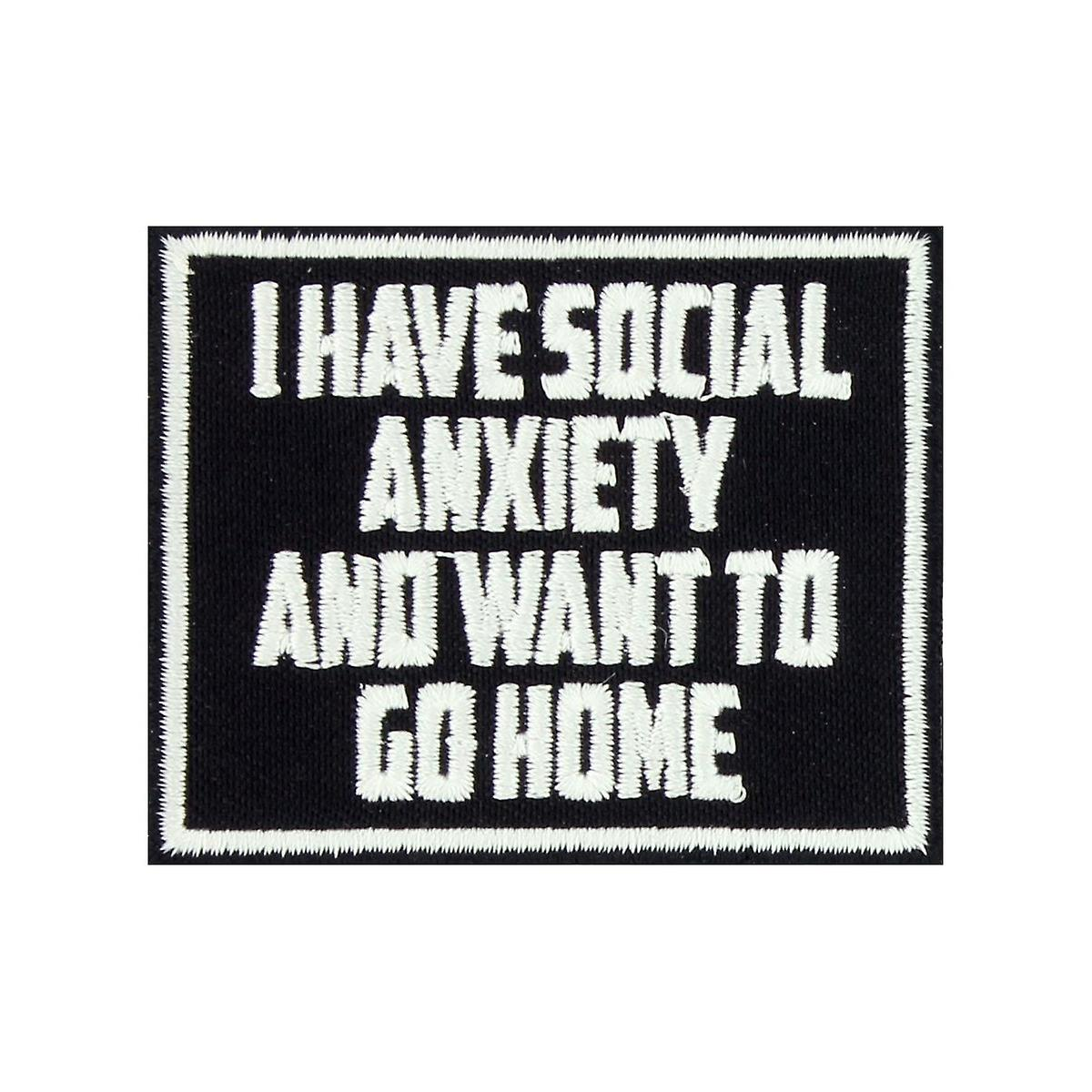 Patch Social Anxiety Black