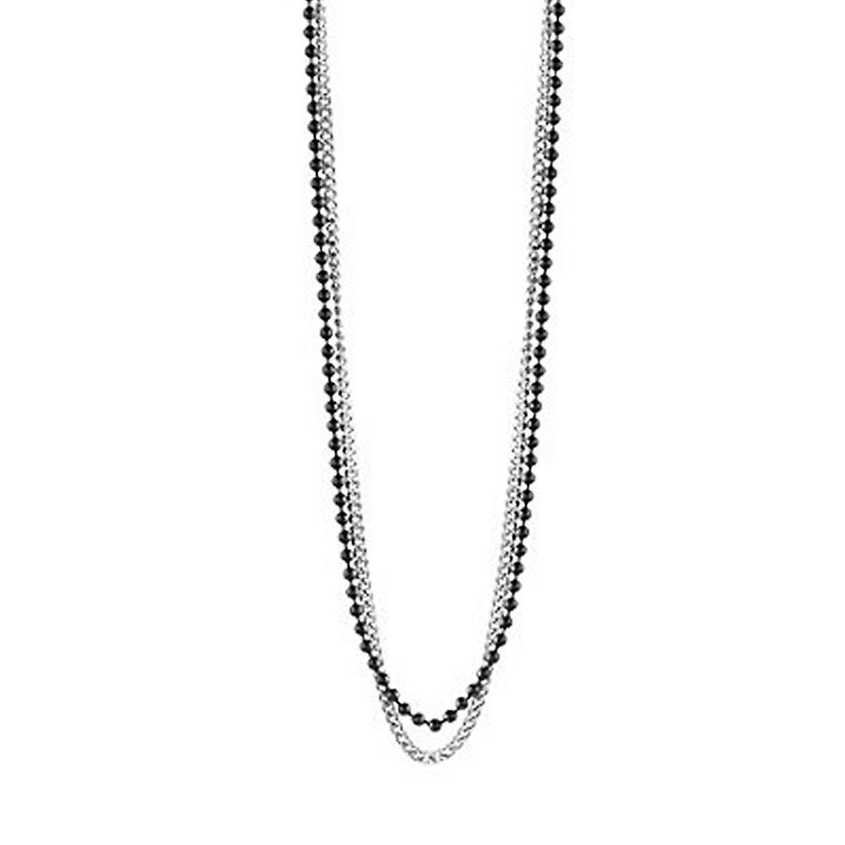 83e746248bfb Cadena collar de acero inoxidable GUESS hombre plata negro UMN21510 ...
