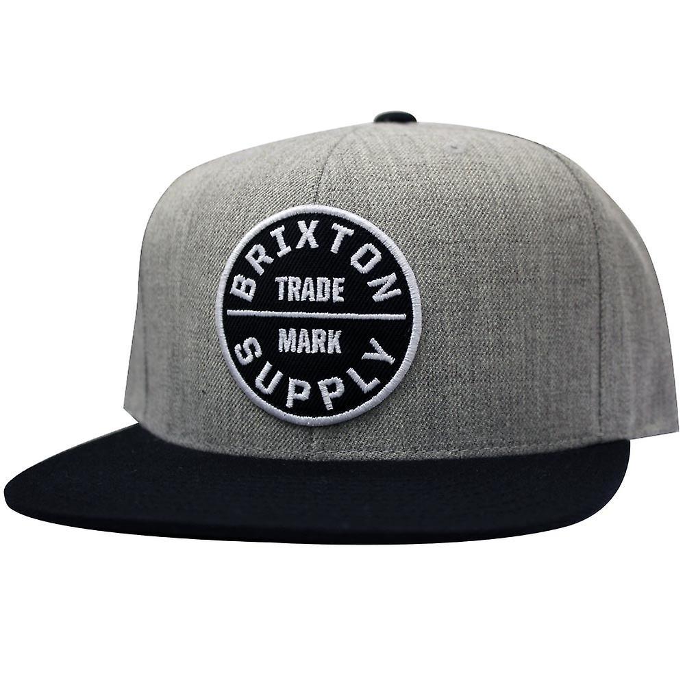 bce7a5d953c Brixton Oath III Snapback Cap Grey Black