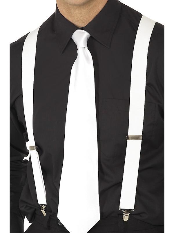 Maffian hängslen vita till 20-talet maffian kostym  7cdcea1b81623